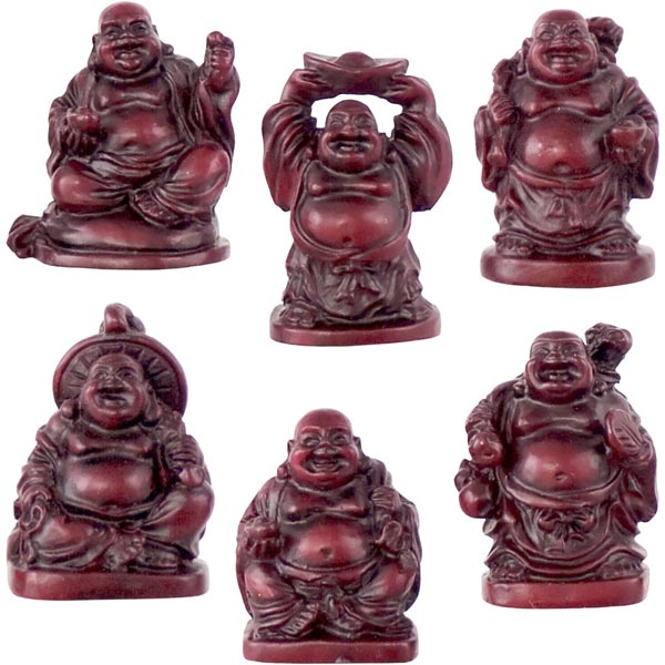 Laughing Buddhas set of 6