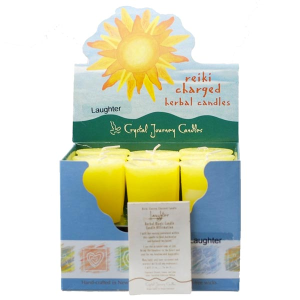 Reiki Charged Laughter Herbal Votive