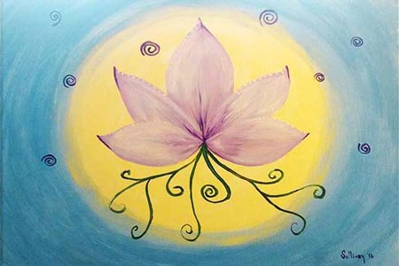 Imbolc Lotus Painting