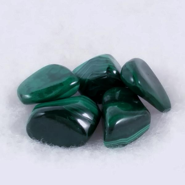 Malachite Tumbled Stone - Mediums