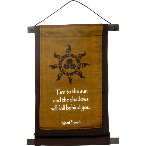 Māori Proverb Cotton Banner