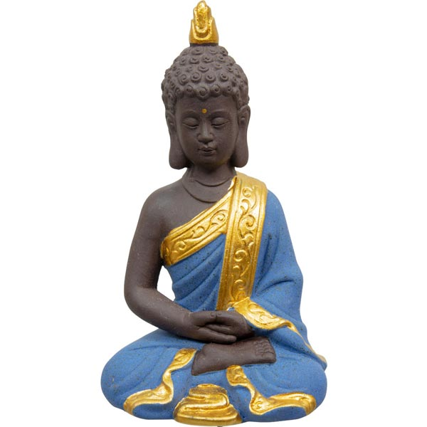 Blue Meditating Buddha Statue