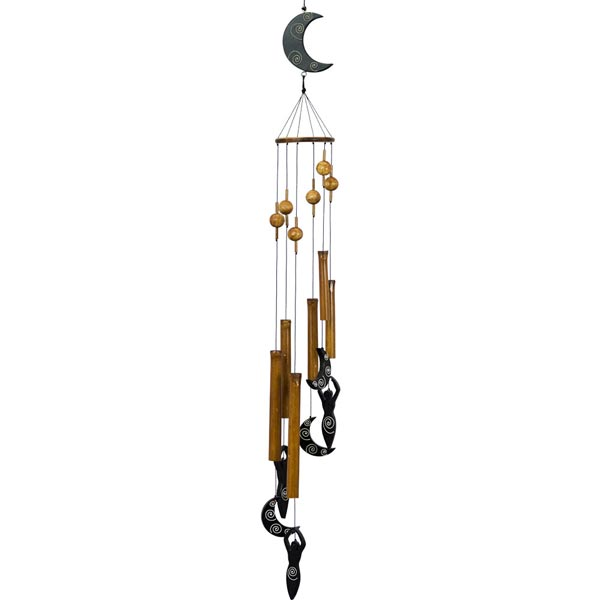 Moon Goddess Bamboo Wind Chime