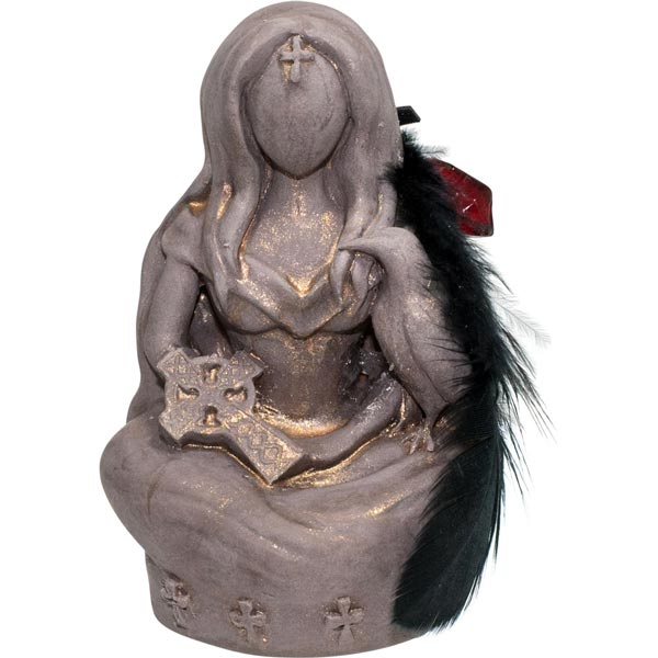 Morrigan Goddess with Owl Statue