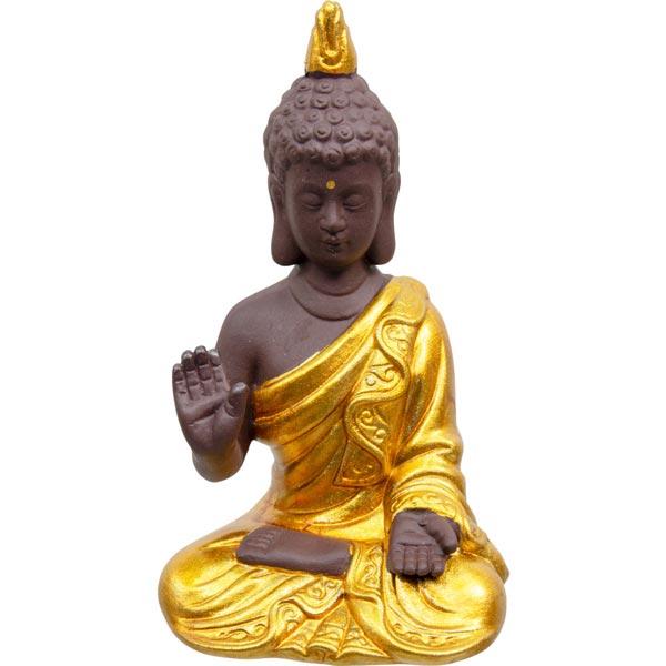 Gold Buddha Statue (Abhaya Mudra Pose)