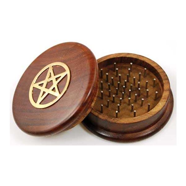 Pentagram Wooden Herb Grinder