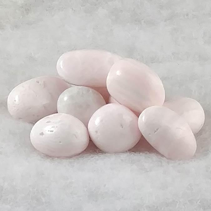 Pink Calcite Tumbled Stones