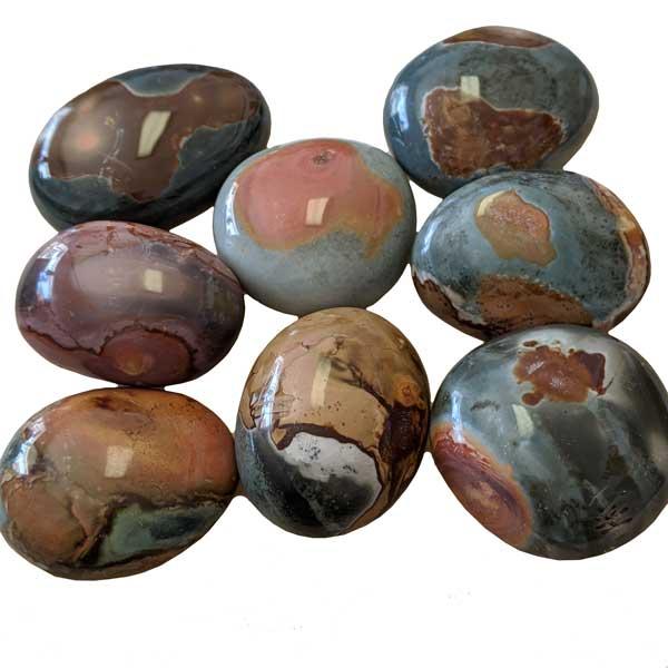 Polychrome Jasper Palm Stones