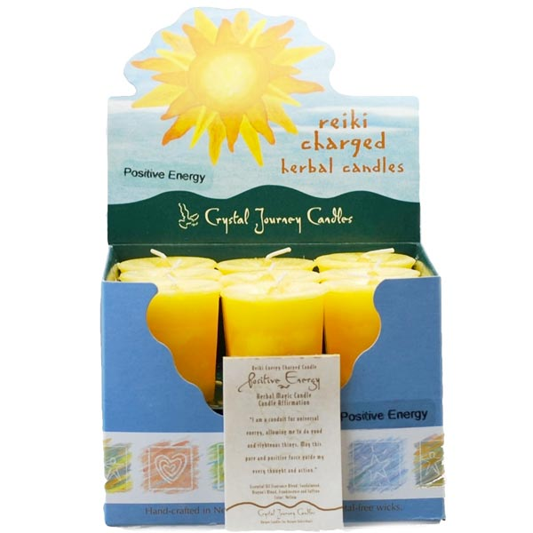 Reiki Charged Positive Energy Herbal Votives
