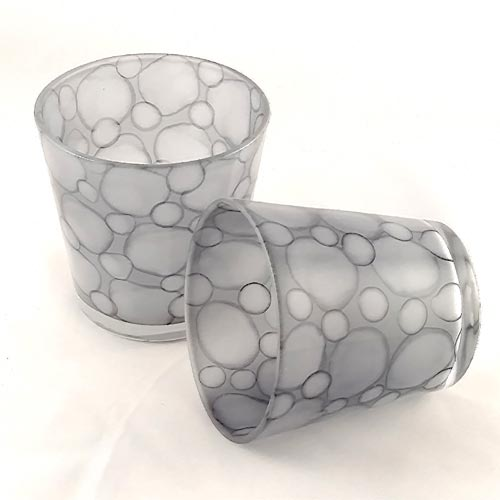Riverstone Glass Votive Holder