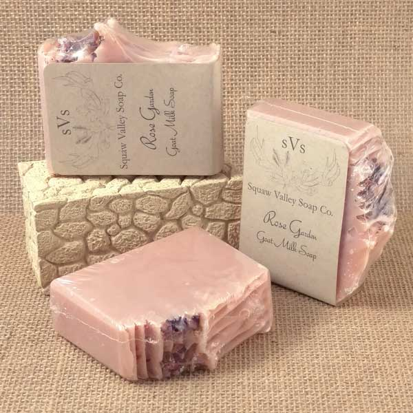 All Natural Rose Garden Goat Milk Soap Bar