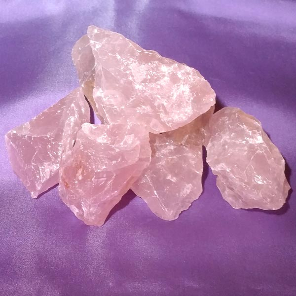 Chunks of Natural Rose Quartz