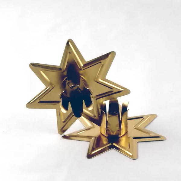 Mini Gold Star Candle Holder