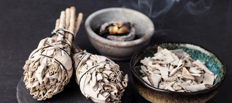 How to burn sage or herbs
