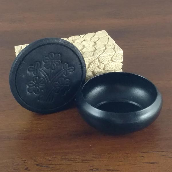 3 inch Black Smudge Pot & Saucer