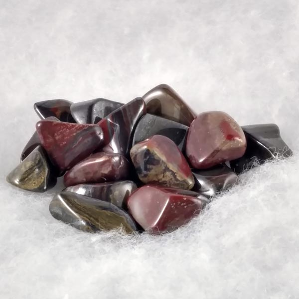 Tiger Iron Tumbled Stones