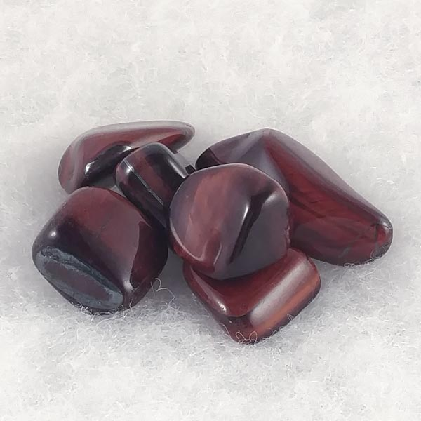 Red Tiger's Eye Healing Tumbled Stones