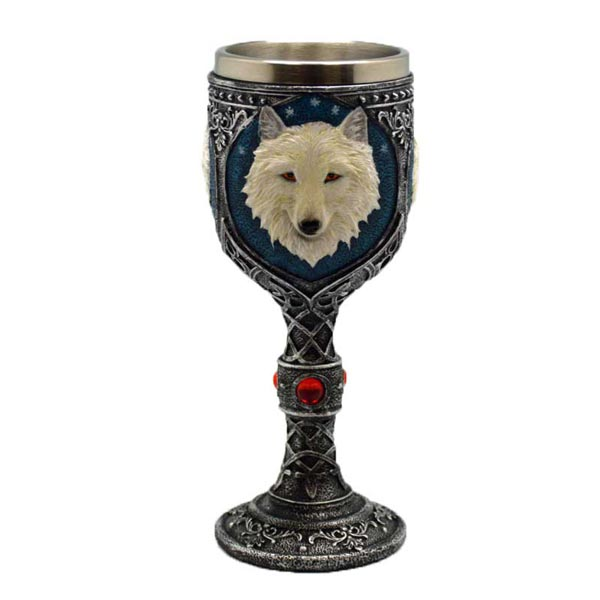 White Wolf Chalice/Wine Goblet