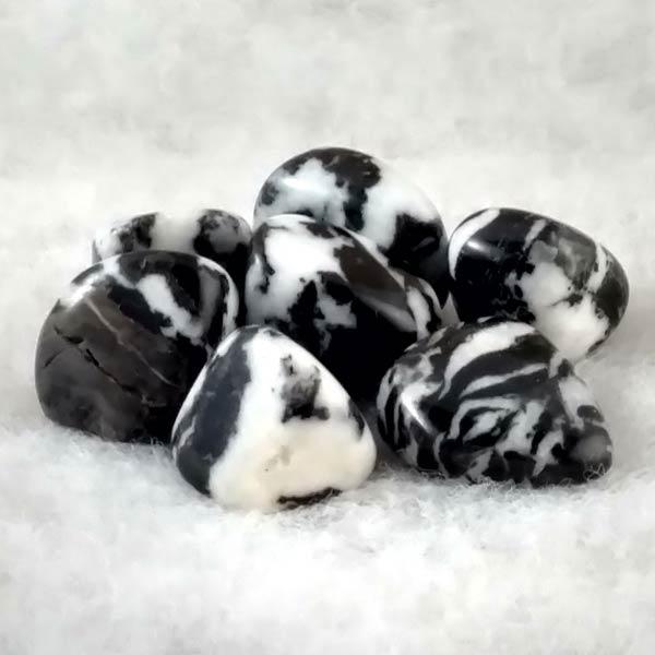 Zebra Agte Tumbled Stones